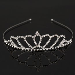 New Fashion Silver Bridal Wedding Tiara Crown Jewelry Crystal Bridal Accessories Headpiece Hair Accessory for women H039