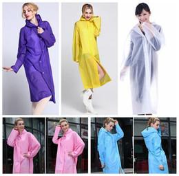Nuevo Easy Carried Capa de lluvia abrigo de viento EVA Mujeres Capucha Impermeable Poncho Transparente impermeable de senderismo no-desechables Raincoat CCA5911 50pcs