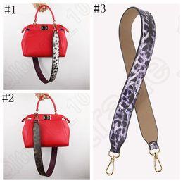 Bolsa de repuesto de la correa de cuero de la PU de cuero leopardo diseño de reemplazo bolsa de mano correa de hombro de colores que 3 diseños LJJO872