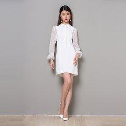 m s long sleeved dresses neck