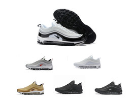 Discount shoes run air max Fashion best Top quality Max 97 running Men Sneakers Air Cushion sports Basketball maxes Casual shoes EUR:40-46 free shipping