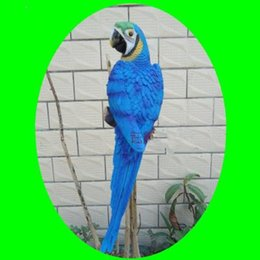 Discount Wood Carving Decor Red Hottest Sale Home Decoration Bionic Parrot Resin Handicraft Best Ornaments For
