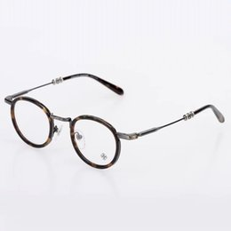 2017 vintage designer retro optical eyeglasses frame myopia round metal men women unisex spectacles eye glasses oculos de grau eyewear