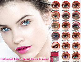Freeshipping 17 цветов с случай голливудская цвет контактных линз для контактных линз /