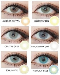 Wholesale The aurora series tone contact lens pieces pair hot selling natural color corrective big eyes contact lens