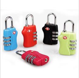 Cadenas de bagages de la douane TSA338 Réarmable Cadenas de combinaison de 3 chiffres de cadenas Valise de voyage serrures de TSA Livraison gratuite par DHL