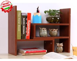wholesale various color unique flexible wooden bookcase on desktop