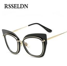 wholesale rsseldn fashion women optical glasses frame cat eye eyeglasses frames brand designer new clear lens retro glasses cheap wholesale designer