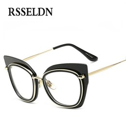 2017 wholesale designer eyeglass frames wholesale rsseldn fashion women optical glasses frame cat eye eyeglasses