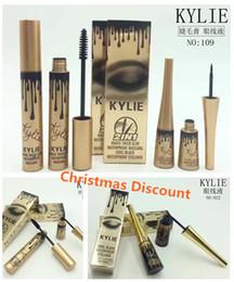 Nuevo envío libre de la alta calidad 2 in1 Kylie del rimel del mascara + del Eyeliner de los ojos encantadores mágicos delgados delgados del negro del Eyeliner del rimel