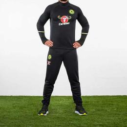 NOUVEAU 2016 football costume de formation veste pantalon maigre 2016 Chelsea football survêtement pantalon shirt de football