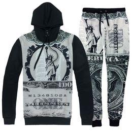 online shopping Sport hip hop suits Statue of Liberty D print fashion tracksuits sweatshirt Hoodies pants set emoji joggers Fashion Women men