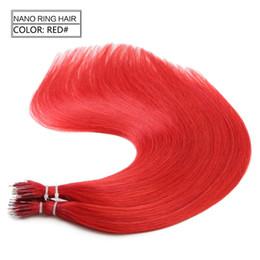 Discount nano micro loop hair extensions Cuticle Micro Nano Ring human virgin Hair Extensions 8A Grade European Remy Micro Ring Loop Human Hair Cuticle 1g per strands