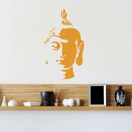 Home Decor Stickers Mad World Buddha Head Silhouette Wall Art Stickers Wall Decal Home Diy Decoration