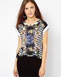 Wholesale T shirt à manches courtes en coton à manches longues T shirt imprimé à manches courtes à manches courtes
