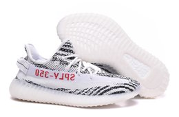 Boost 350 V2 Zebra Black Chaussures blanches pour Hommes SPLY 350 V2 Zebra Running Shoes vente taille 36-46
