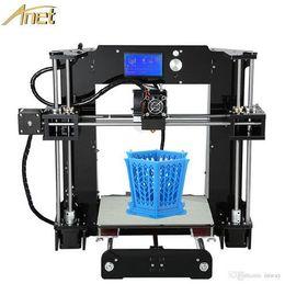 Facile montage Anet A6 3d-imprimante bricolage Precision Reprap Prus i3 kit d'imprimante 3D DIY avec 10M Filaments 16GB carte SD Hotbed