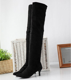 Discount Plus Size Suede Thigh High Boots | 2017 Plus Size Suede ...