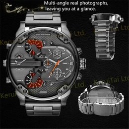discount oversized watches for men 2017 oversized watches for 2017 oversized watches for men watch for men oversized case mutiple dials date display stainless steel