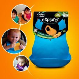 Wholesale Baby Infant Waterproof Silicone Feeding Lunch Bibs Saliva Unisex Kids Aprons Hot