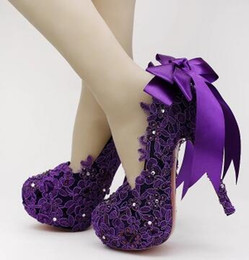 Discount Purple Beautiful High Heel Shoes  2017 Purple Beautiful