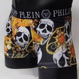 Vogue Hommes Sous-vêtements Boxers Shorts Luxe Marque Crâne Design Hommes Ceinture Sexy Homme Underpant 1pc1bag