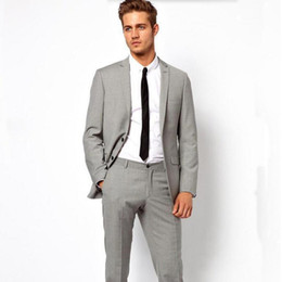 Light Grey Slim Fit Suit Online | Light Grey Piece Slim Fit Suit