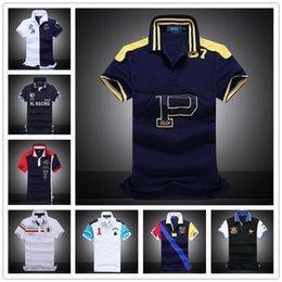 Wholesale 2017 New Men s Fashion Eagle Printing short Sleeve Polo shirts Men s Casual Fitness Bottoming shirt Camisetas Masculinas