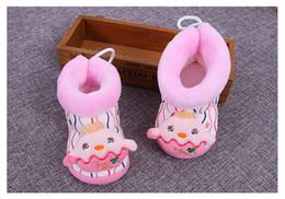 Cute Baby Snow Boots Добавить Плюшевые Теплая обувь для новорожденных детей зима Покрытием Анти-аут мультфильм сапоги Бесплатная доставка горячей продаж