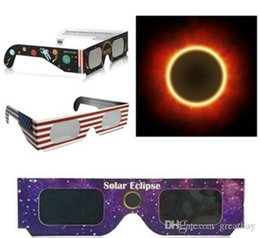 Solar Eclipse Glasses Paper Solar Glass Viewing Eyeglasses Protect Your Eyes Safe when 21th August Hot Sale