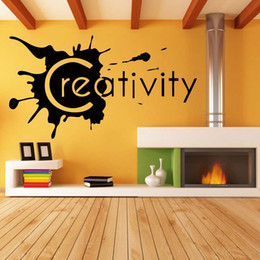 creativity wall lettering words removable room personality fashion funny decal vinyl quote diy art sticker decor graphics
