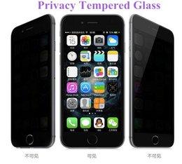 Pour Iphone 7 Intégrité Verre trempé pour S7 iPhone 6 Protecteur d'écran LCD Anti-Spy Film Screen Guard Cover pour Samsung S6 / S5 A4