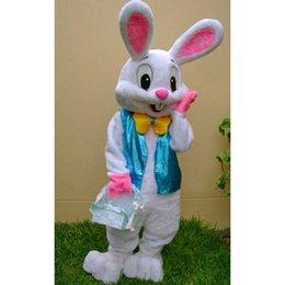 Traje de mascote de coelhinho da Páscoa traje de fantasia Roupa interessante Personagens animados para festa e festas festa traje de festa