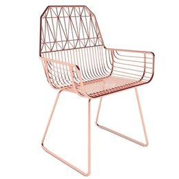 creative chair diamond hollow out wire chairs contracted wrought iron furniture industrial design loft designer chairs buy industrial furniture