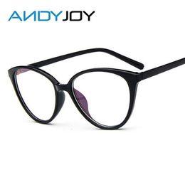 wholesale andyjoy vintage cat eye glasses frame women fashion classic frame mirror female brand designer optical eyeglasses oculos de grau cheap wholesale