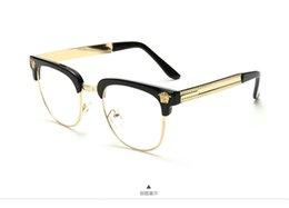 2017 new brand blackgold mens semi rimless eyeglasses frames uv metal half frame clear lens glasses optical