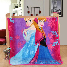 Wholesale Kids Flannel Frozen Trolls Blankets Winter Warm Super Hero Blankets infantile Swaddling cartoon sac de bébé sac de couchage m L001