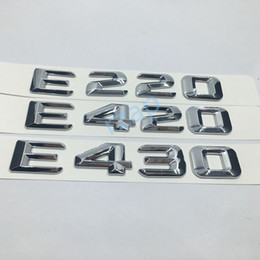 car rear trunk emblem badge for mercedes benz w124 w211 e class e220 e420 e430 chrome letters logo sticker