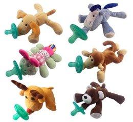 Adorável alta qualidade desenhos animados bebê lactente infantil bonito Pacifiers com animal de pelúcia Non-ToxicTool Safe bebê mamilos Teat