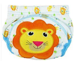 2017 cotton gauze patterns Baby Nappies Boy Girl Infant Toilet Pee Potty Training Pants Cloth Diaper Underwear Cartoon Animal Pattern Cotton Hot