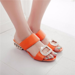 Womens orange sandals for sale