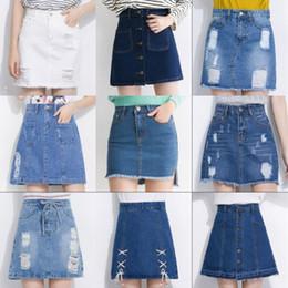 Discount Denim Jean Skirts Knee Length | 2017 Denim Jean Skirts ...