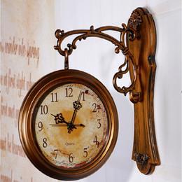 Wholesale Wall Clock Modern Design Double Sided Wall Clock 3d Digital Saat Large Vintage Wall Clocks Reloj Relogio De Parede Digital Watch
