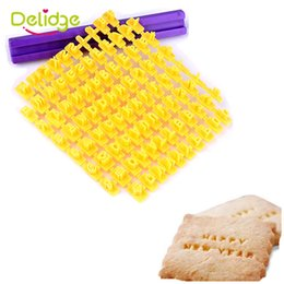delidge 1 set 26 english letter cookie mold pianting symbol stamp biscuit cookie cutters embosser cake fondant diy molds