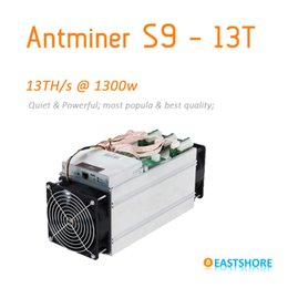En stock Antminer S9 13TH 11.85T Bitcoin Miner Nouveaux 16nm Asic Miner seulement 1300w Btc Miner Better Than Antminer S7