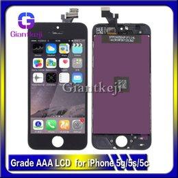 AAA LCD de qualité pour l'iPhone 5 5C 5S LCD écran tactile numériseur ensemble complet Assemblée avec expédition rapide DHL