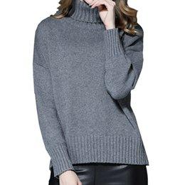 New Winter Turtleneck Loose Show Slim Thin Knit manga comprida Pullover Sweater Mulheres colarinho de alta Knitting Sweater