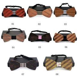 8 diseños Nueva moda de madera Bowties único artesanal de madera de la boda bowknot parte clásica de los corbatas para hombres CCA5674 50pcs