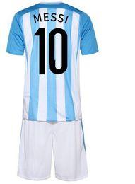 Camisetas de futebol argentina kids jerseys meninos 2016 2017 qualidade superior messi kids jerseys