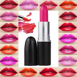 24 colors mc lipstick batom mate long lasting rouge a levre matte waterproof lip stick ruby woo women lipstick lips make up 12pcs - Baume Lvre Color